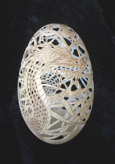 Egg carving -  Christel Assante