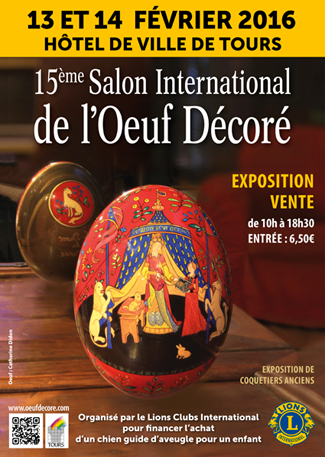 14th Tours Decorated egg International Salon