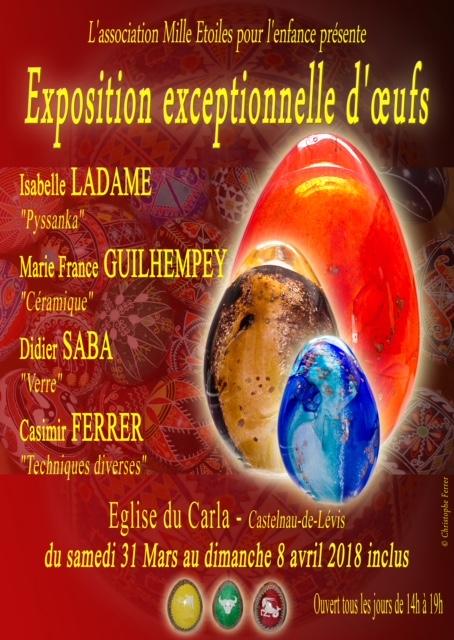 Exposition autour des oeufs à l'église du Carla - Castelnau de Lévis