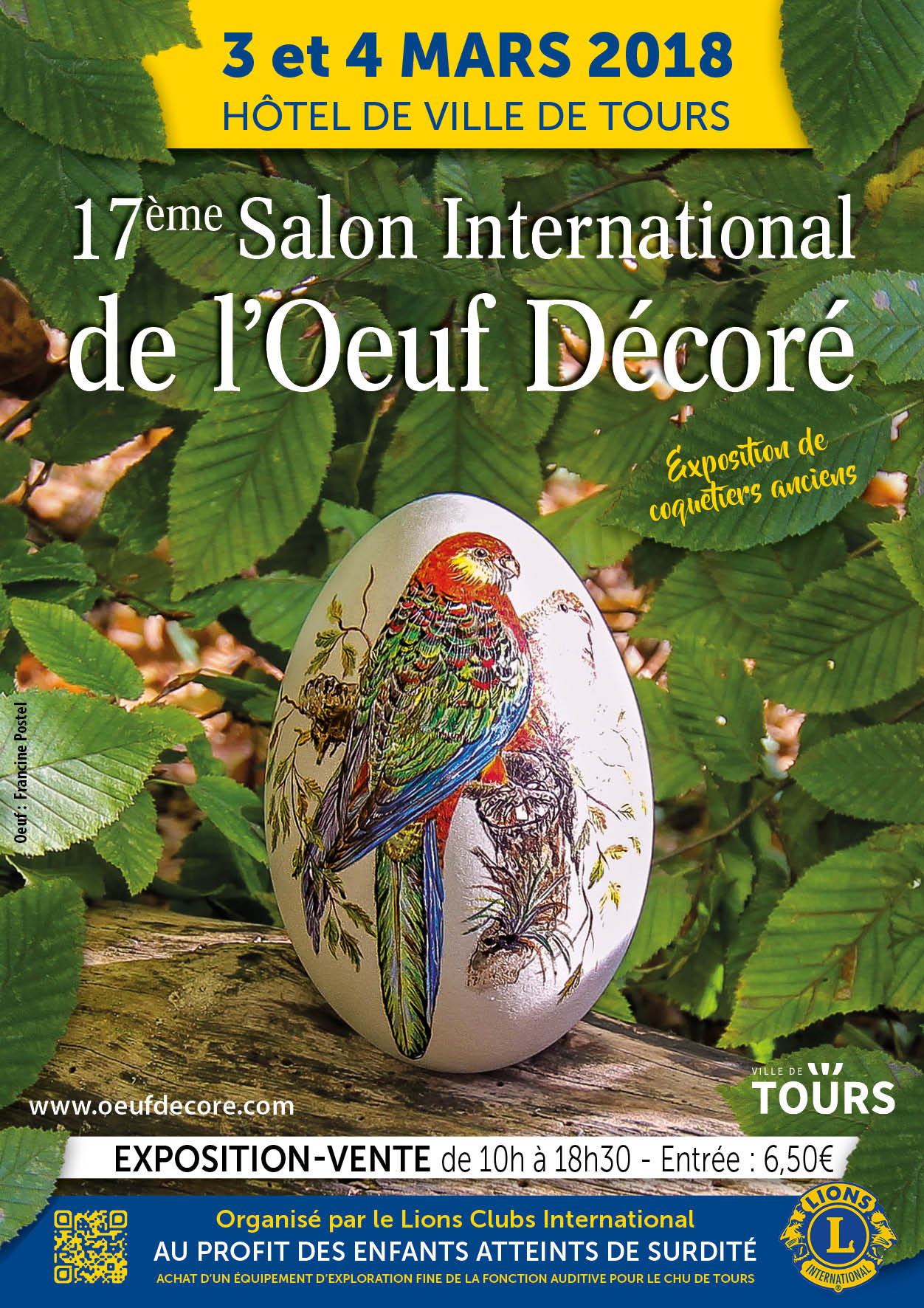 17th Tours Decorated egg International Salon
