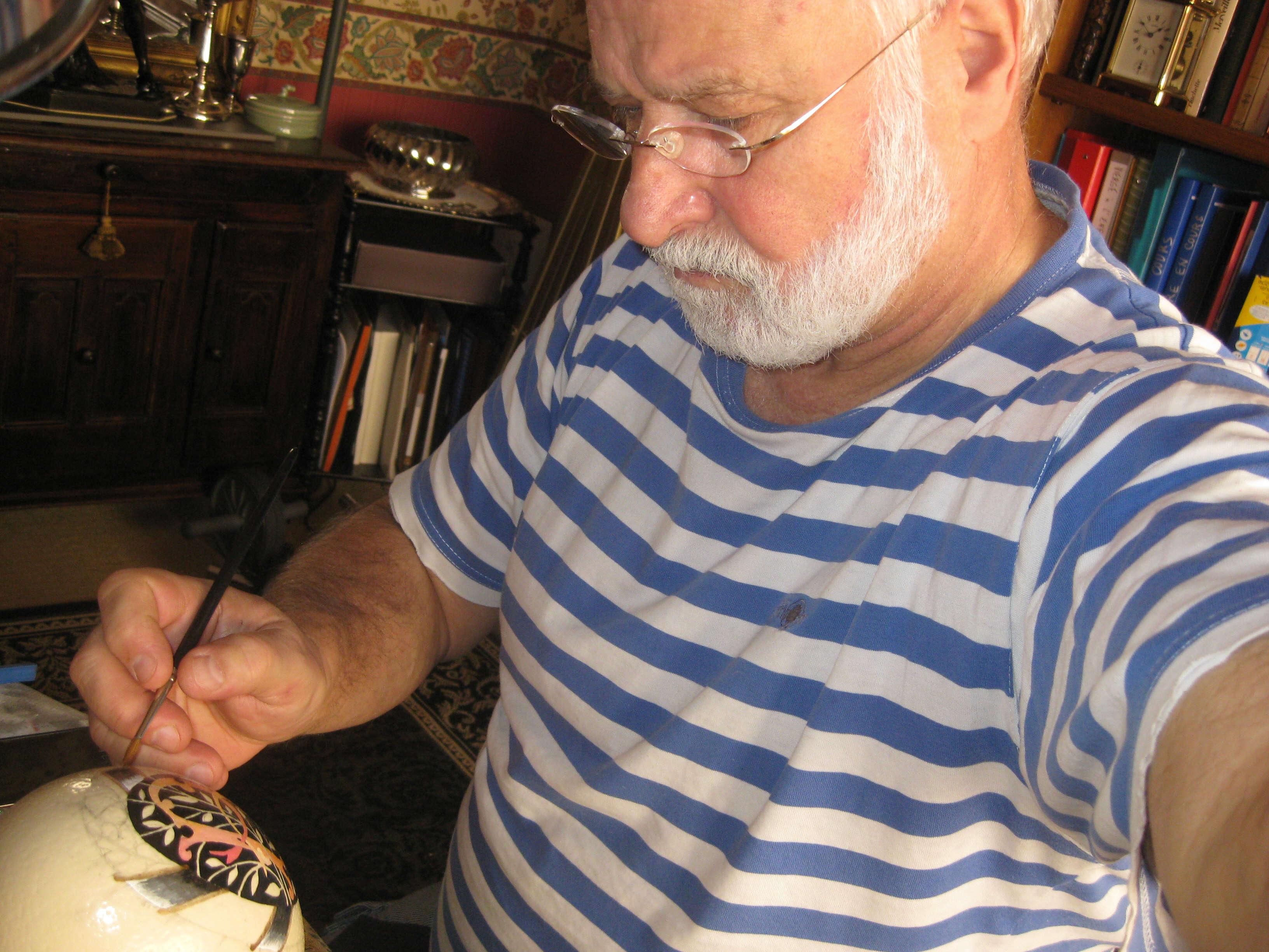 Jo l peintre et sculpteur sur oeufs - Cloque du pecher coquille d oeuf ...