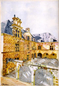 Pierre Maubeau : aquarelle, water-colour painting, Aquarell , Aкварель, 水彩画の画廊